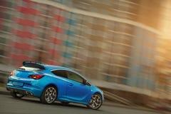 Sports car blue Stock Photos