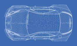 Sports car blueprint Stock Image