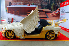 Sports car with bone carving decoration Stock Photography