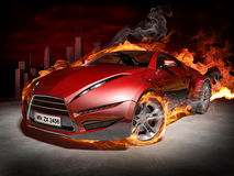 Sports car burnout Royalty Free Stock Photo