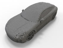 Sports car checkerboard texture Stock Image