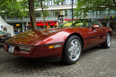 Sports car Chevrolet Corvette (C4) Targa, 1988 Royalty Free Stock Images