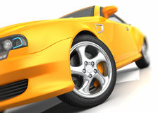 Sports car closeup. Against whie background Stock Images