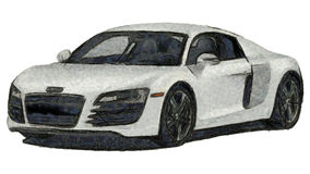 Sports Car Sketch Royalty Free Stock Image