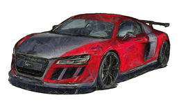 Sports Car Sketch  Royalty Free Stock Photography