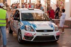 Sports car compete Prime Yalta Rally Stock Photo
