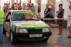 Sports car compete Prime Yalta Rally Royalty Free Stock Image