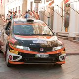 Sports car compete Prime Yalta Rally Stock Images