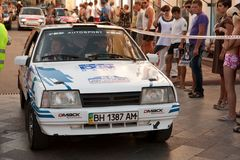 Sports car compete Prime Yalta Rally Stock Photography