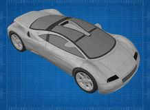 Sports car blueprint stock images download 5 photos sports car 3d blueprint shoot of the sports car 3d blueprint stock photography malvernweather Gallery