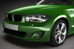 Green Sports car.  3d render Stock Photography