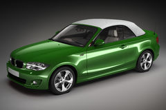 Green Sports car.  3d render Royalty Free Stock Photo