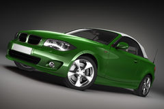 Green Sports car.  3d render Stock Photo