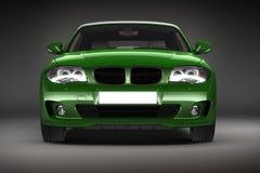 Green Sports car.  3d render Royalty Free Stock Photos