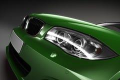 Green Sports car.  3d render Stock Photos