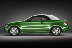 Green Sports car.  3d render Royalty Free Stock Photos