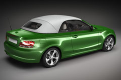 Green Sports car.  3d render Stock Photos