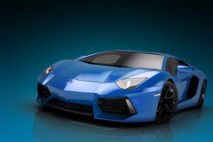 Sports car. 3d render, wallpaper Stock Photo