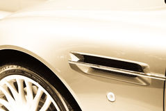 Sports car detail royalty free stock image