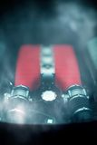Sports car engine. Royalty Free Stock Photography