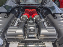 Sports car engine, V8 Royalty Free Stock Images