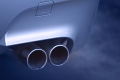 Sports car exhaust Royalty Free Stock Photography