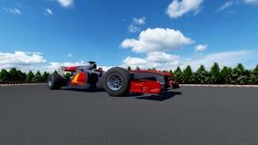 Sports car F1 stock photos