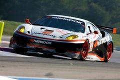 Sports Car,Ferrari F430 GT(LMS). Le Mans Series race, Circuit LE CASTELLET(FRANCE); April 10th 2010. Ferrari F430 GT,#HANKOOK TEAM FARNBACHER Royalty Free Stock Photos