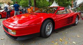 Sports car Ferrari Testarossa (Type F110). Royalty Free Stock Photo