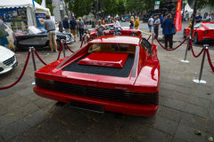 Sports car Ferrari Testarossa (Type F110). Rear view. Royalty Free Stock Image