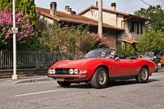 Sports car Fiat Dino Spider 2400 1971 Stock Photos