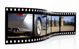 Sports Car Film Strip Royalty Free Stock Photos
