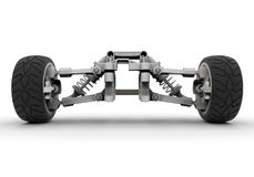 Sports car front suspension Stock Image