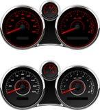 Sports Car Gauge Set Stock Photography