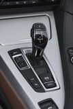 Sports car gear shifter Royalty Free Stock Images