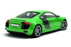 Sports car. Green sports car on white background Stock Image