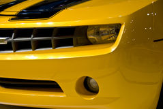 Sports Car Grill and Lights Stock Photography
