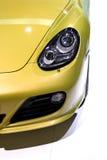 Sports car head lamp stock photography