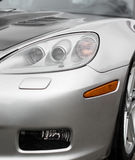 Sports car headlight. Royalty Free Stock Photos