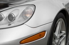 Sports car headlight. Royalty Free Stock Image