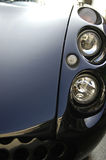 Sports car headlight closeup Stock Image