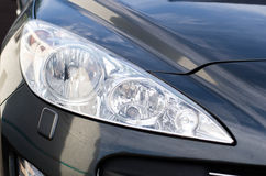 Sports car headlight grey Stock Image