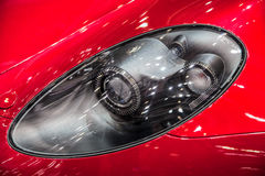 Sports car Headlights Royalty Free Stock Photos