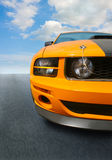 Sports car on the highway Stock Photography