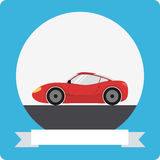 Sports car icon Stock Photography
