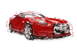 Sports Car Illustration Stock Image