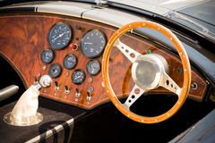 Sports car interior Stock Images