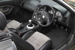 Sports Car Interior royalty free stock photos