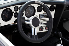 Sports car interior Stock Image