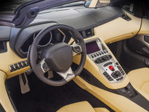 Sports car interior Stock Photo